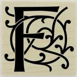 "Decorative Monogram Letter Stamp - 1.5"" X 1.5"" - Stamptopia"