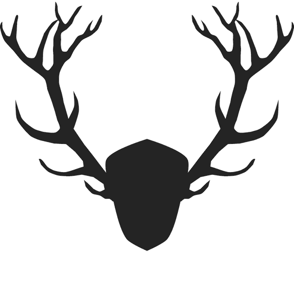 Detailed Antler Silhouette Stamp - Stamptopia