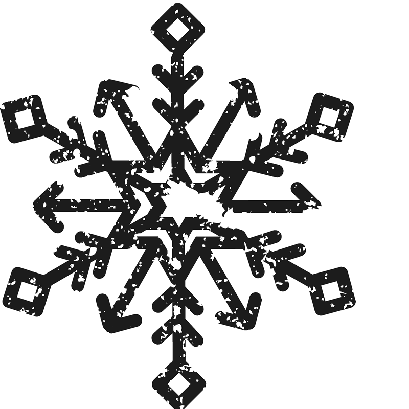 Distressed Snowflake Stamp - Stamptopia