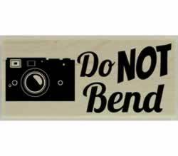 "Do Not Bend Custom Rubber Stamp - 2.5"" X 1"" - Stamptopia"