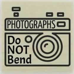"Don'T Bend Photographs Custom Stamp - 1.5"" X 1.5"" - Stamptopia"