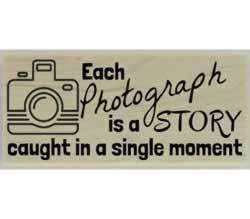 "Each Photograph Is A Story Stamp - 2.5"" X 1"" - Stamptopia"