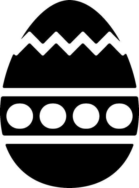 Easter Egg Rubber Stamp - Stamptopia