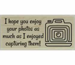 "Enjoy Your Photos Custom Stamp - 2.5"" X 1"" - Stamptopia"
