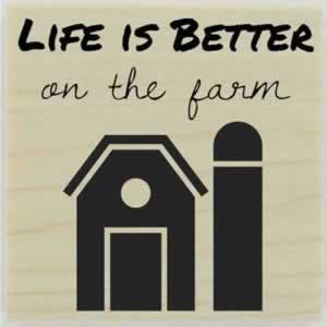 "Farm House Custom Stamp - 1.5"" X 1.5"" - Stamptopia"
