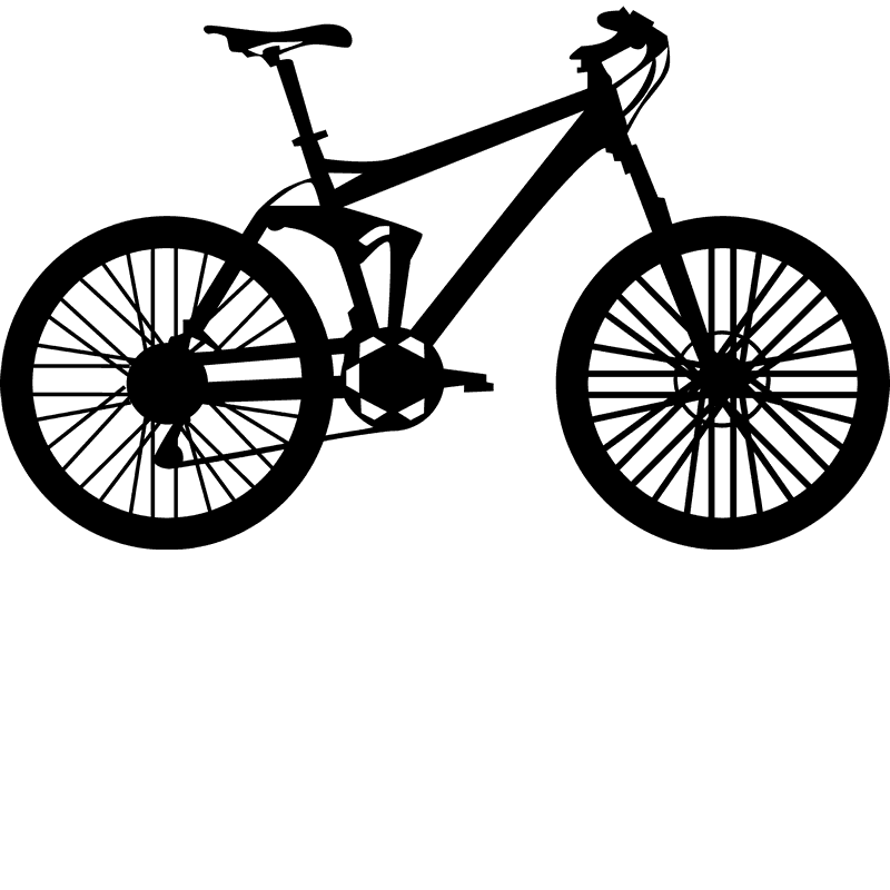 Fat Bike Rubber Stamp - Stamptopia