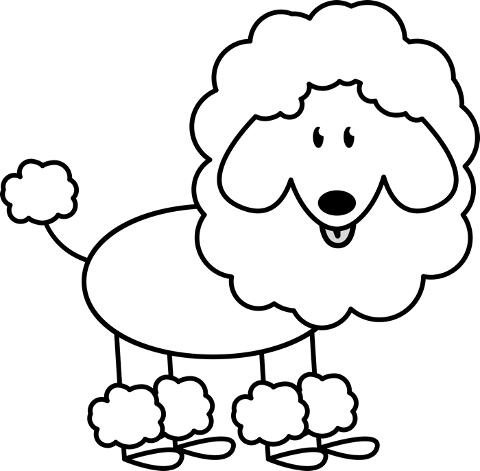 Fluffy Poodle Rubber Stamp - Stamptopia