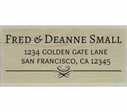 "Fred Decorative Line Address Stamp - 2.5"" X 1.25"" - Stamptopia"