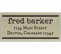 "Fred Line Border Address Stamp - 2.5"" X 1.25"" - Stamptopia"