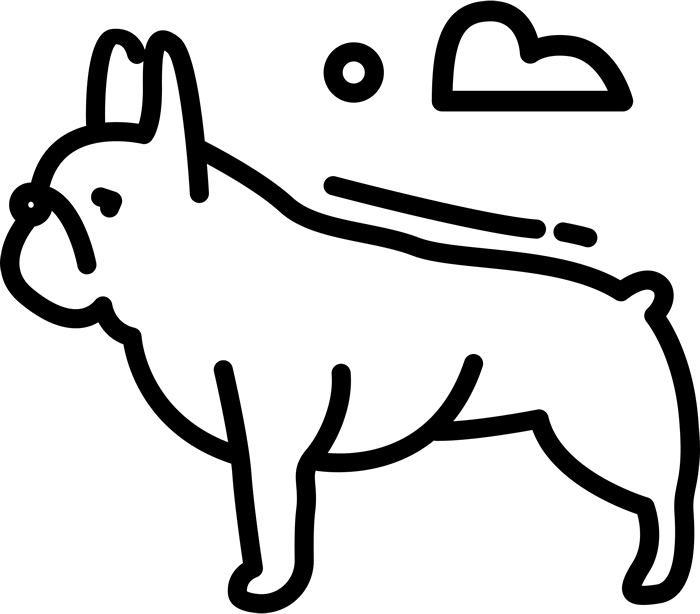 French Bulldog Stamp (Sketch) - Stamptopia