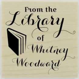 "From The Library Of Book Custom Stamp - 1.5"" X 1.5"" - Stamptopia"