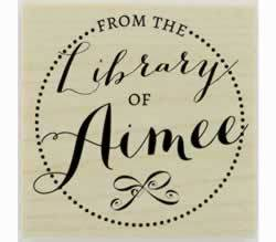 "From The Library Of Personal Library Stamp - 1.5"" X 1.5"" - Stamptopia"