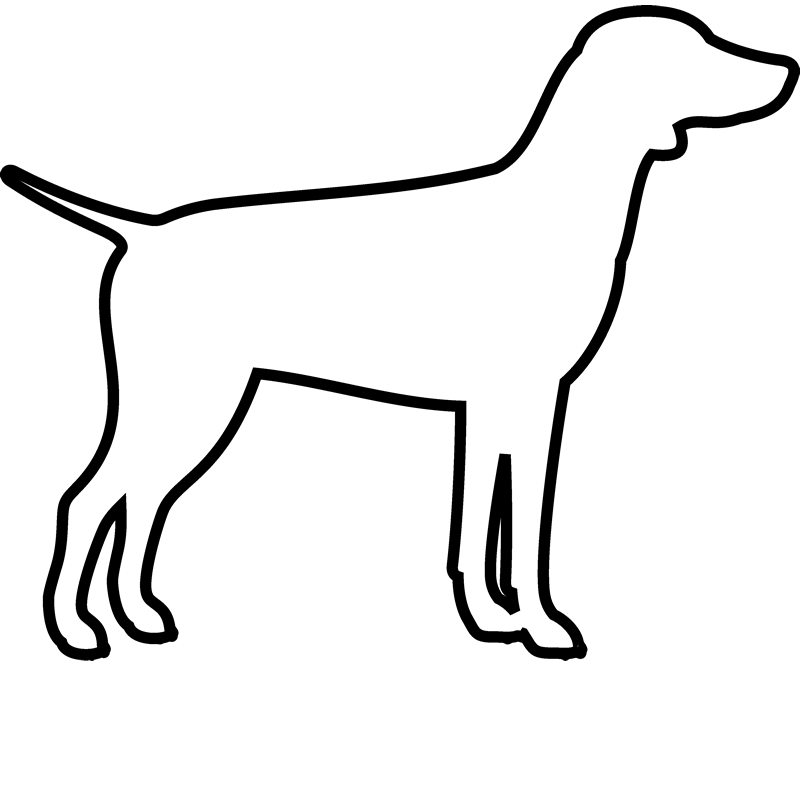 German Pointer Rubber Stamp (Outline) - Stamptopia