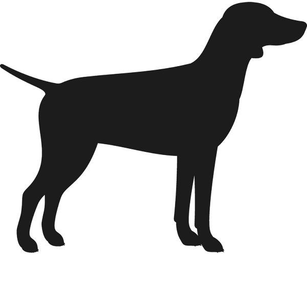 German Pointer Stamp (Silhouette) - Stamptopia