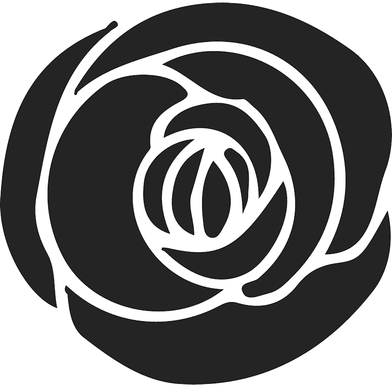 Gorgeous Dark Rose Rubber Stamp - Stamptopia