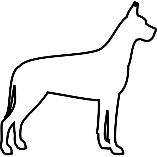 Great Dane Rubber Stamp (Outline) - Stamptopia
