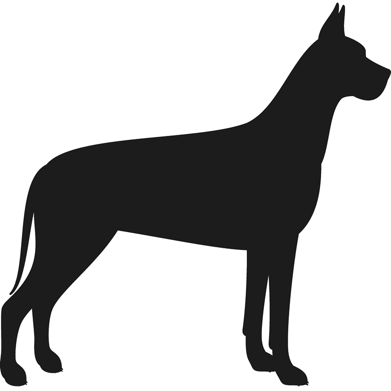 Great Dane Stamp (Silhouette) - Stamptopia