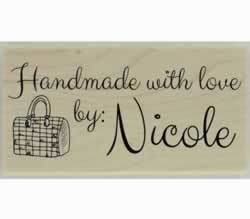 "Handmade Purse Custom Stamp - 1.5"" X 0.75"" - Stamptopia"