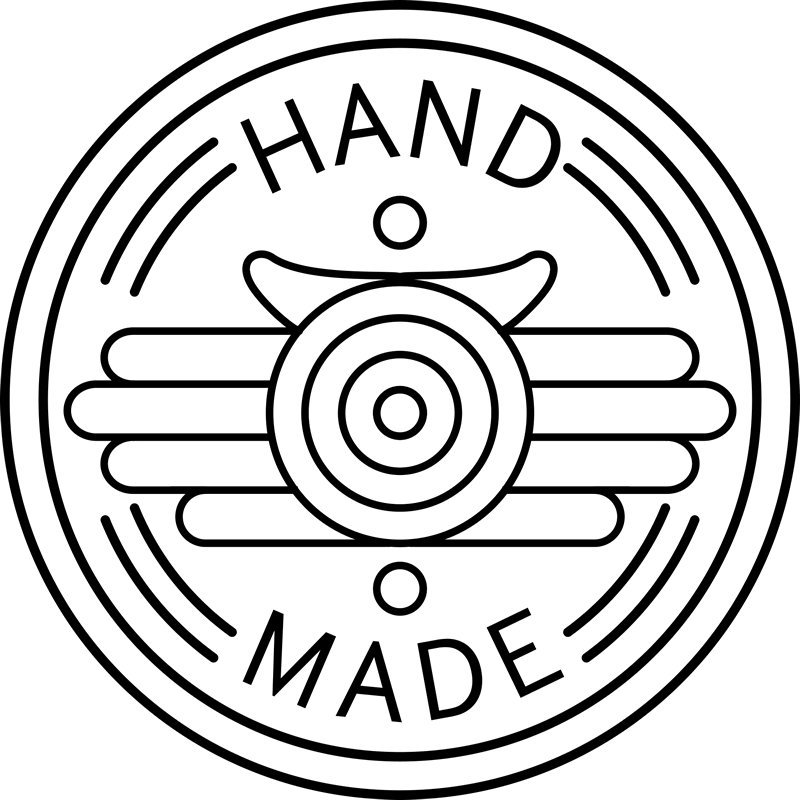 Handmade Round Stamp Design With Artistic Hands - Stamptopia