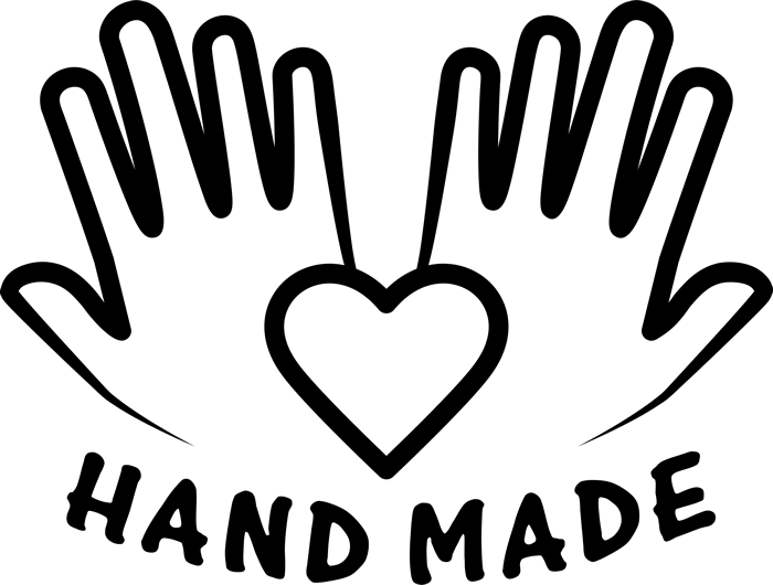 Handmade Rubber Stamp With Handprints (Solid) - Stamptopia