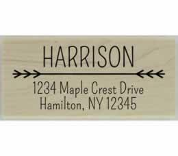 "Harrison Line Divider Return Address Stamp - 2.5"" X 1.25"" - Stamptopia"