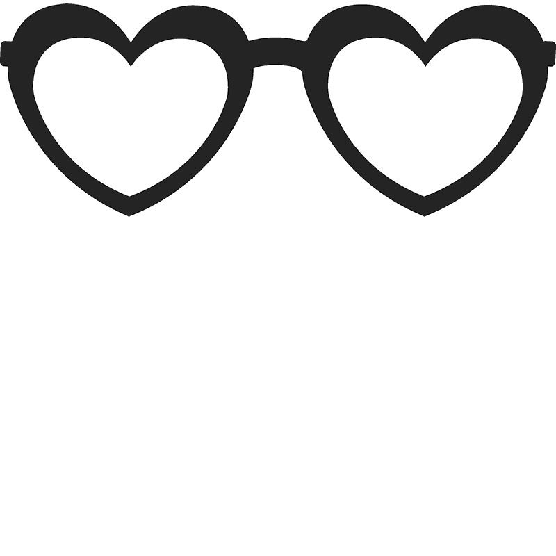 360d737727a Heart-Shaped Glasses Stamp - Stamptopia