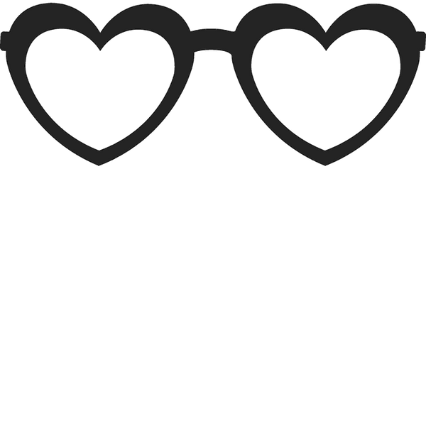 Heart-Shaped Glasses Stamp - Stamptopia
