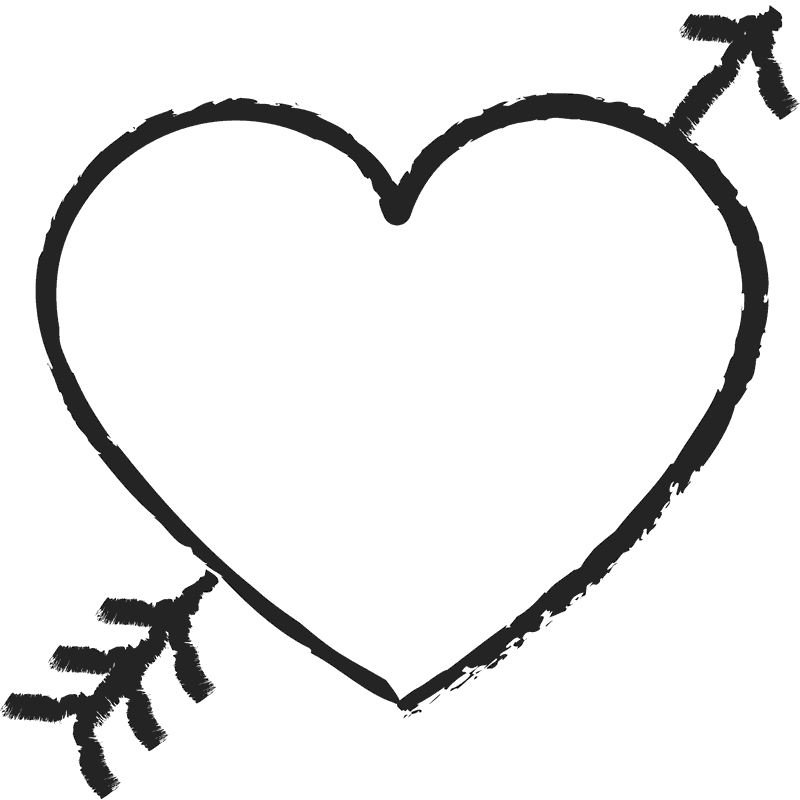 heart with arrow rubber stamp heart stamps stamptopia rh stamptopia com heart with arrow through it heart with arrow emoji