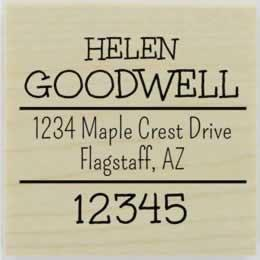 "Helen Handwritten Address Stamp - 1.5"" X 1.5"" - Stamptopia"