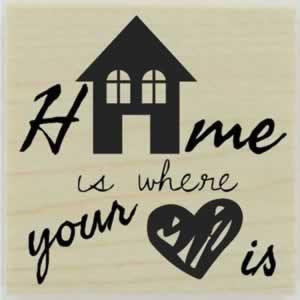 "Home Is Where Your Heart Is Stamp - 1.5"" X 1.5"" - Stamptopia"