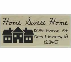 "Home Sweet Home Custom Return Address Stamp - 2.5"" X 1"" - Stamptopia"