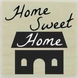 "Home Sweet Home Quote Stamp - 1.5"" X 1.5"" - Stamptopia"