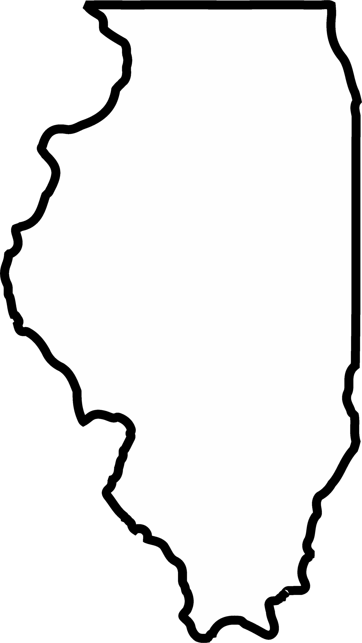 Illinois Outline Rubber Stamp State Rubber Stamps