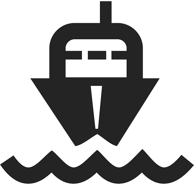 Incoming Ship Icon Stamp - Stamptopia