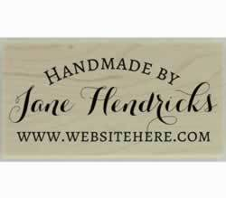 "Jane Handmade By Custom Stamp - 1.5"" X 0.75"" - Stamptopia"