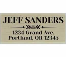 "Jeff Decorative Divider Address Stamp - 2.5"" X 1.25"" - Stamptopia"
