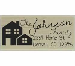 "Johnson Custom Home Return Address Stamp - 2.5"" X 1"" - Stamptopia"