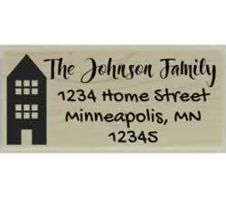 "Johnson Family Custom Return Address Stamp - 2.5"" X 1"" - Stamptopia"