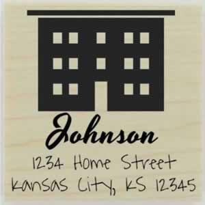 "Johnson Home Custom Address Stamp - 1.5"" X 1.5"" - Stamptopia"