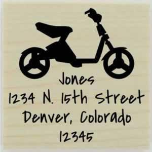 "Jones Personalized Bike Address Stamp - 1.5"" X 1.5"" - Stamptopia"