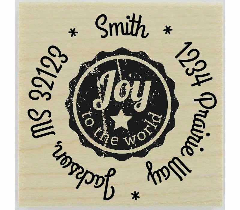 "Joy To The World Stamp - 1.5"" X 1.5"" - Stamptopia"