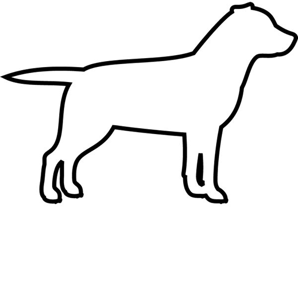 Labrador Retriever Rubber Stamp (Outline) - Stamptopia