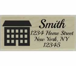 "Large Home Return Address Stamp - 2.5"" X 1"" - Stamptopia"