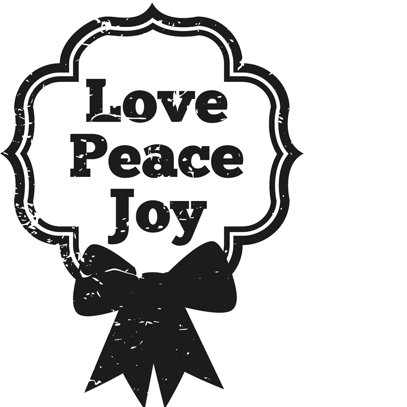 Love Peace Joy Stamp - Stamptopia