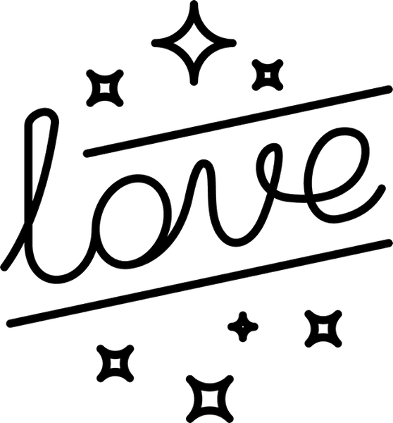 Love With Stars Rubber Stamp - Stamptopia