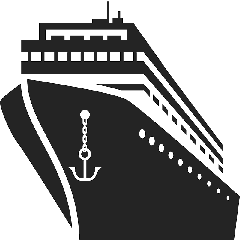 Luxury Cruise Ship Rubber Stamp