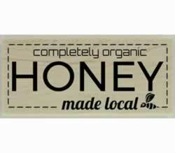 "Made Local Completely Organic Honey Stamp - 2"" X 1"" - Stamptopia"
