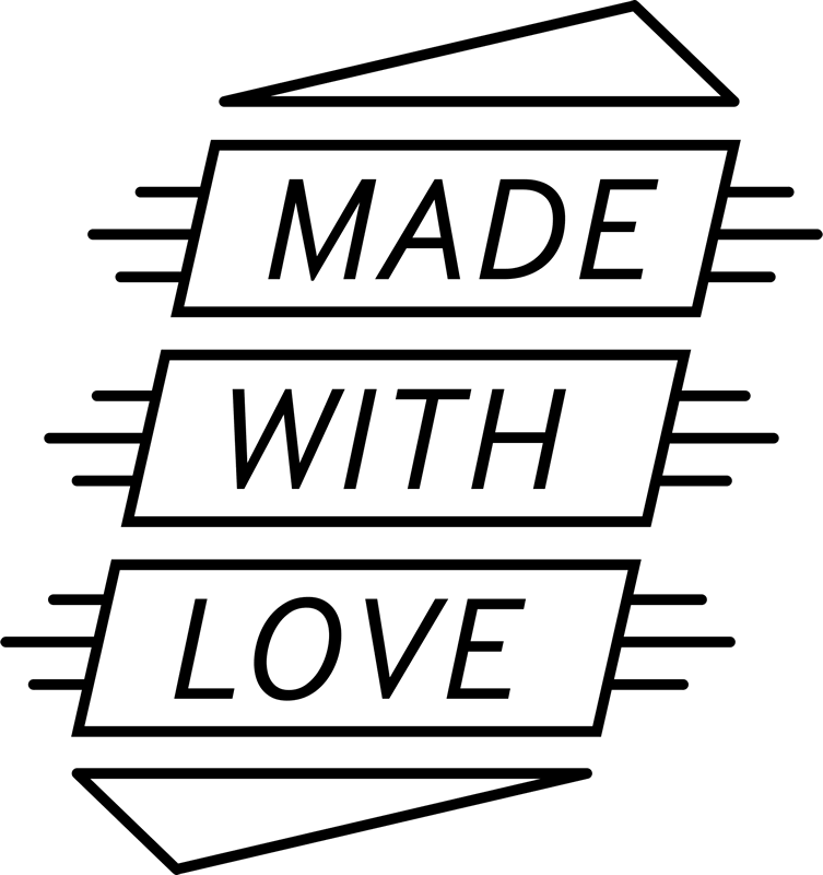 Made With Love Rubber Stamp - Stamptopia