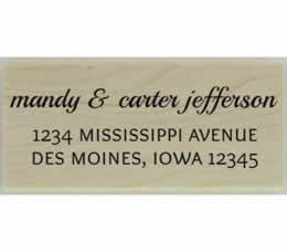 "Mandy Three Line Address Stamp - 2.5"" X 1.25"" - Stamptopia"