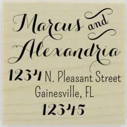 "Marcus Calligraphy Address Stamp - 1.5"" X 1.5"" - Stamptopia"